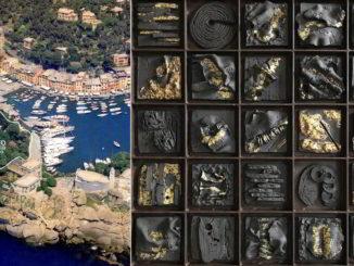 opera Impronte di Maria Cristina Carlini per il Museo del Parco di Portofino