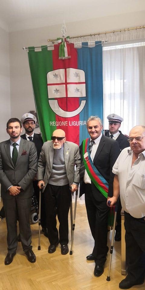 Muzio e Mohoratz con il console italiano a Fiume