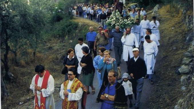 Santa Libera processione a Verzi di Loano