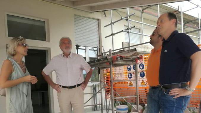 Sopralluogo del sindaco alle Scuole Molino Nuovo di Andora