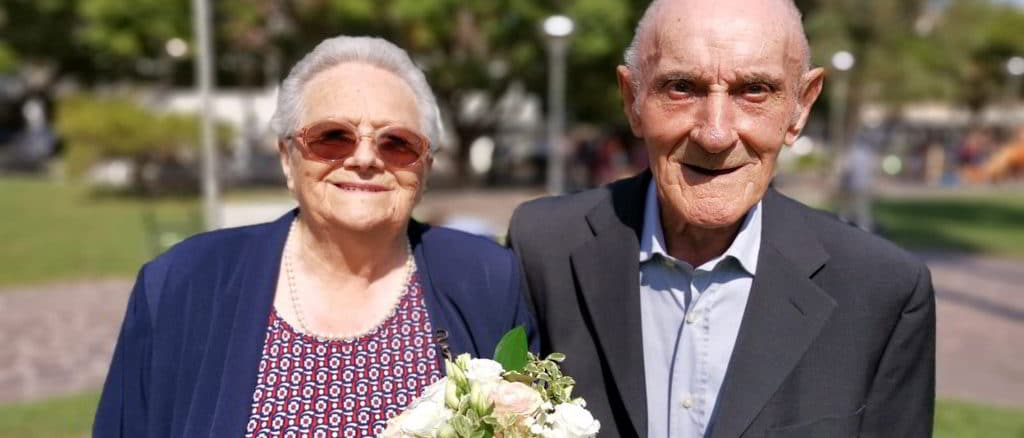 Susanna e Giovanni Battista Caviglia festeggiano 70 anni di matrimonio