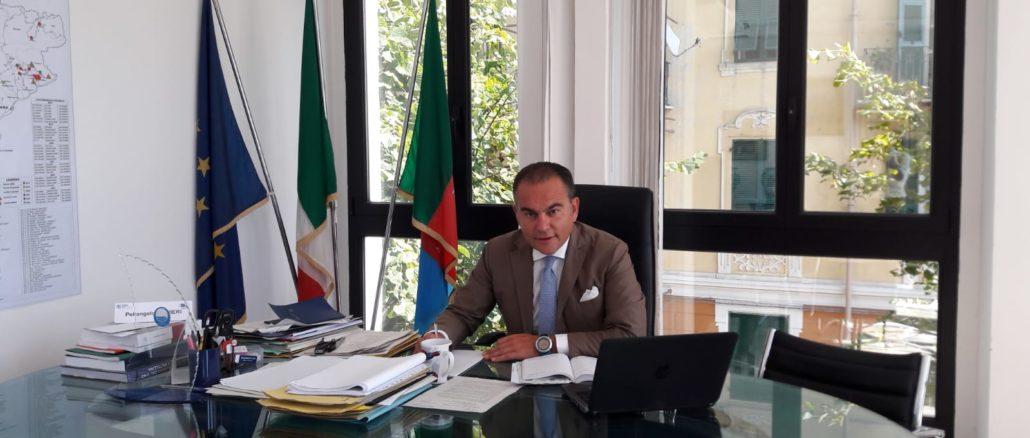 Il presidente Provincia di Savona Pierangelo Olivieri