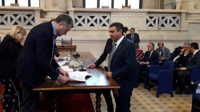 Il consigliere regionale Franco Senarega in Corte di Cassazione