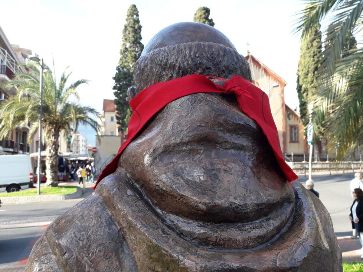 04 Statua di San Francesco imbavagliata a Loano