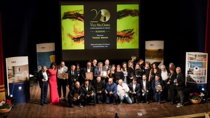 Palco Teatro Chiabrera di Savona serata finale XX edizione del Festival internazionale del doppiaggio Voci nell'Ombra
