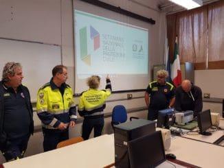 Protezione civile a incontro Itis di Albenga