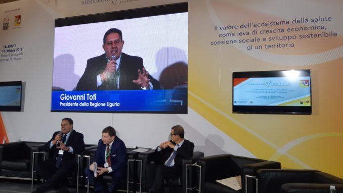Presidente di Regione Liguria Giovanni Toti a Palermo per il Forum Ambrosetti
