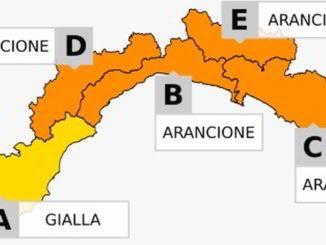 Allerta gialla e arancione in Liguria