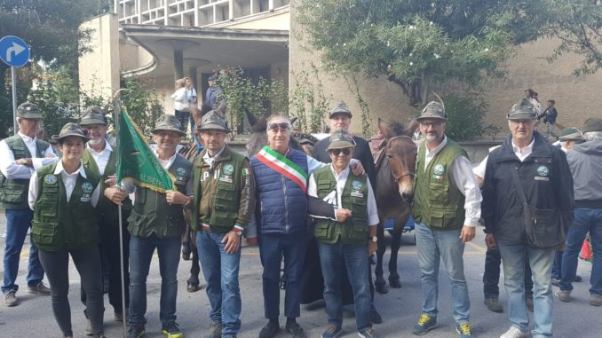Alpini Gruppo di Albenga al raduno di Savona con assessore Vannucci