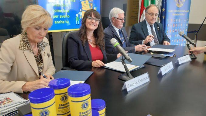 La firma del protocollo di intesa siglato tra Regione Liguria e Lions