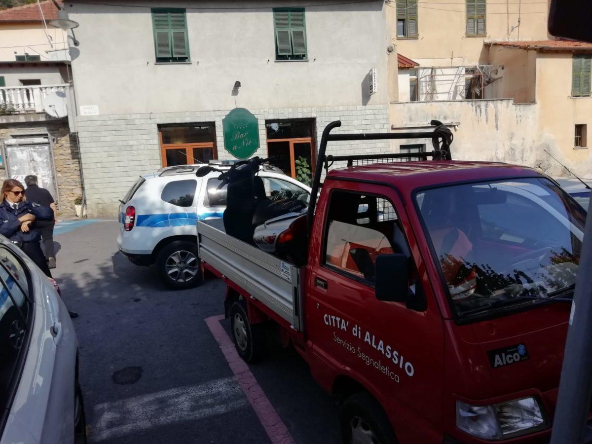 Bici e Moto rimosse in Alassio