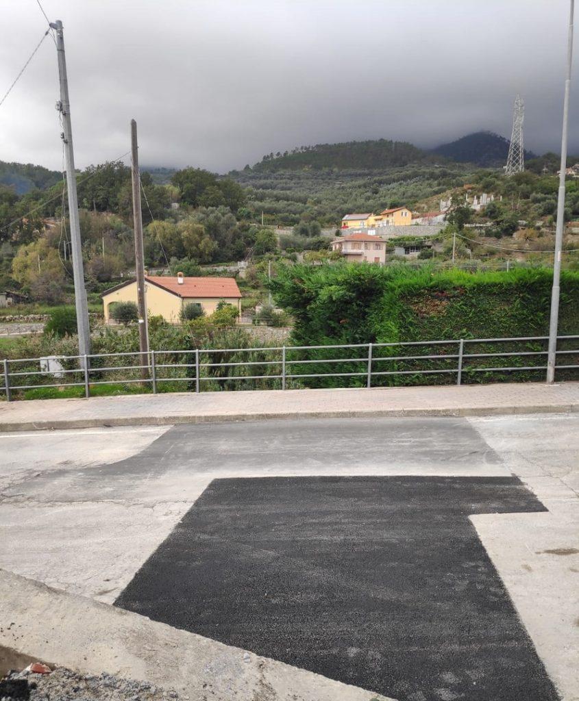 Conclusi a Loano i lavori Strada per Verzi 01