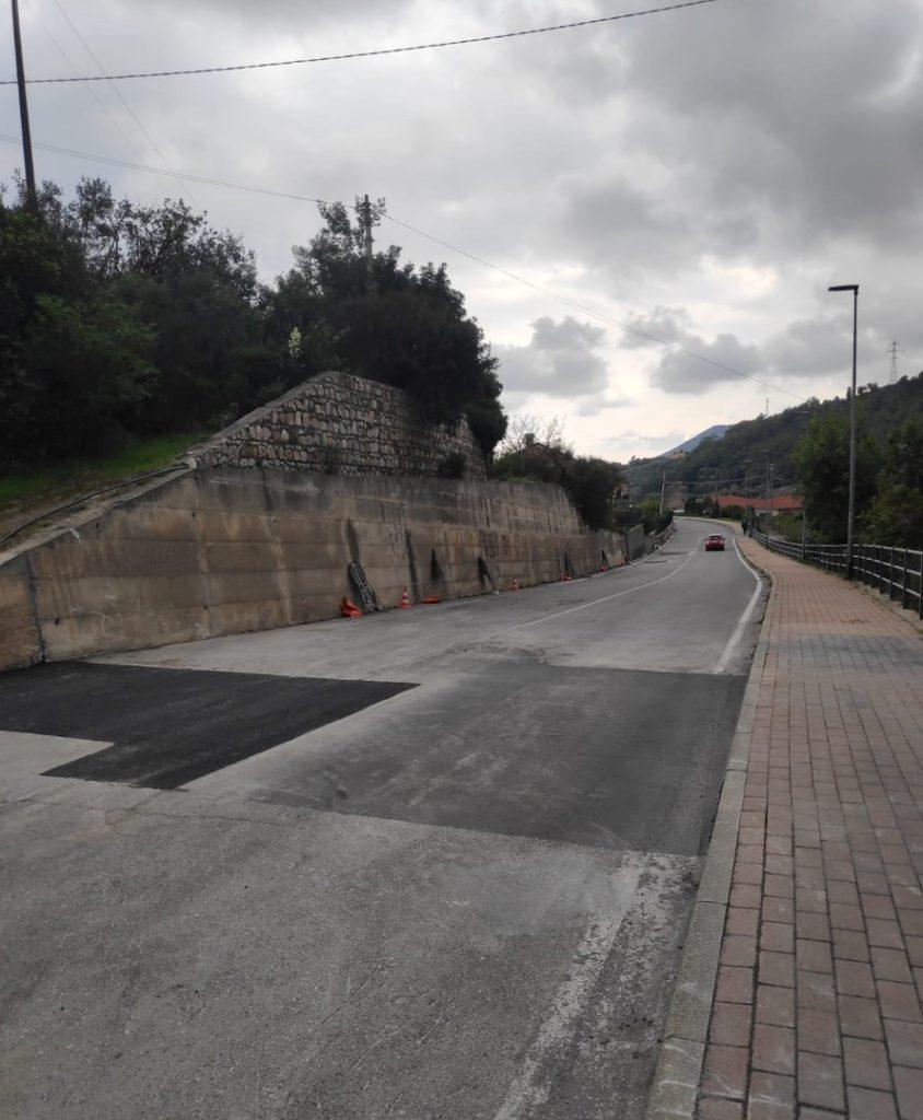 Conclusi a Loano i lavori Strada per Verzi 03