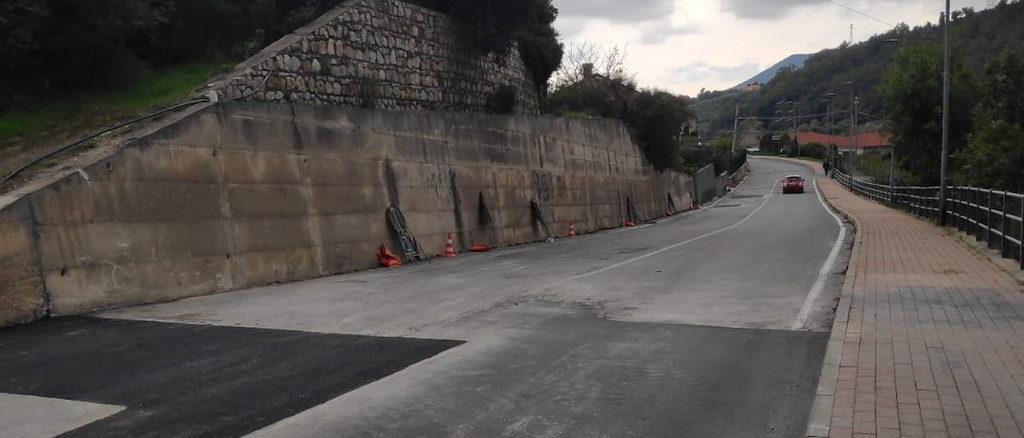 Loano riaperta la Strada per Verzi