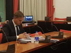 Eraldo Ciangherotti in Consiglio comunale ad Albenga