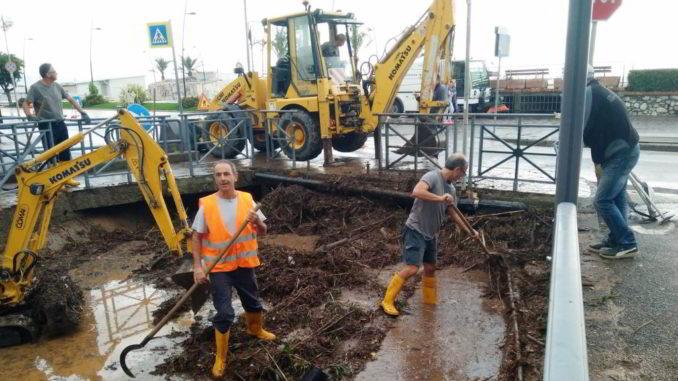 Esondazione rio San Rocco a Ceriale lavori in corso