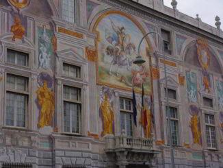 Facciata Palazzo San Giorgio a Genova