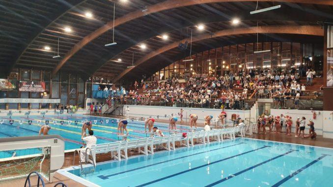 GAra di nuoto al Palagarassini di Loano