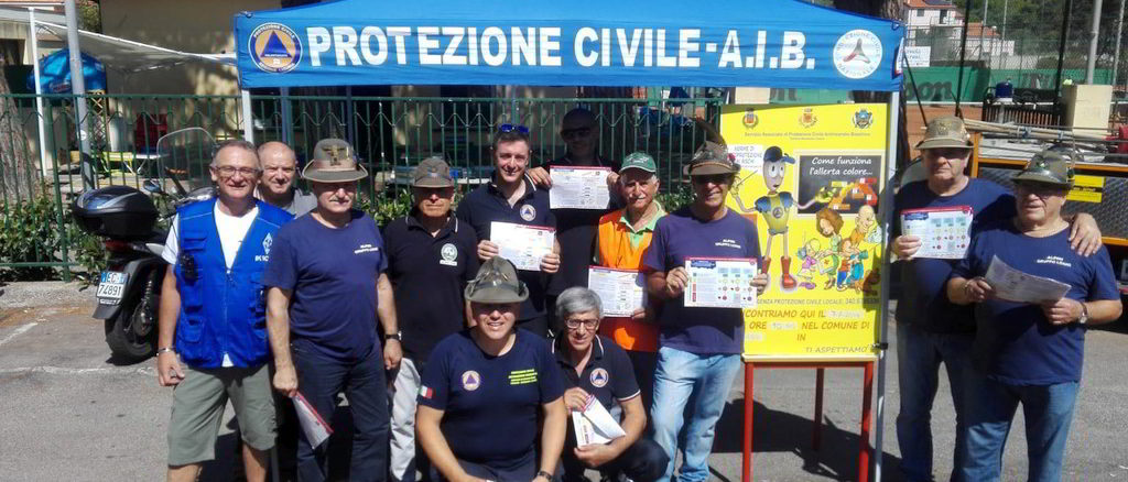 Gazebo Protezione Civile a Loano