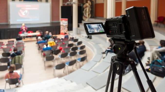 Riprese giornalistiche al Festival Glocal di Varese