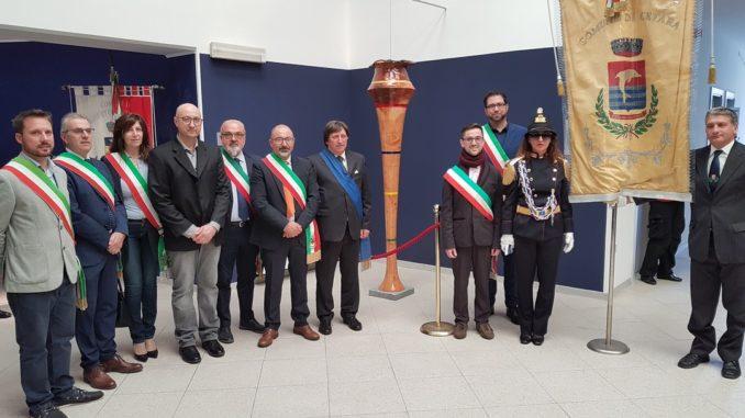 Inaugurazione scultura Finotti a Borghetto