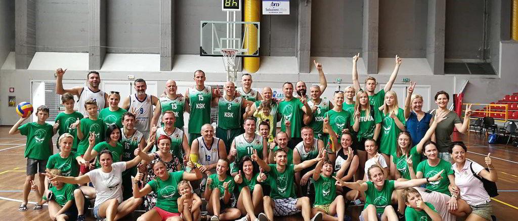 Alassio Cup Over 40 di Basket la squadra Prima classificata nel 2018, KSK Kaunas (Lituania)