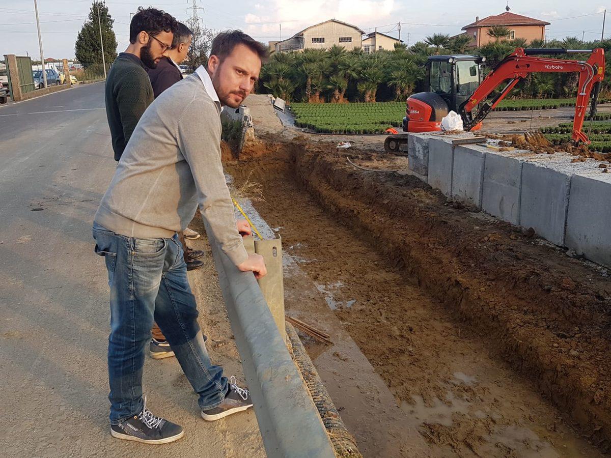 Lavori rifacimento muro via del Cristo ad Albenga 01