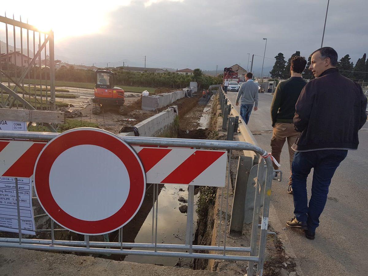 Lavori rifacimento muro via del Cristo ad Albenga 03