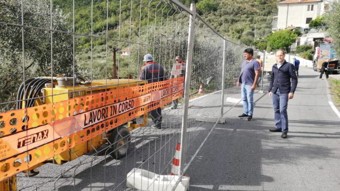 Lavori strada comunale di Conna in località Garassini ad Andora