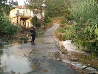 Maltempo Liguria sopralluoghi ad Albenga 21 ottobre 2019