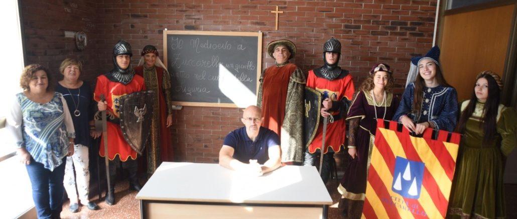 Medioevo a Zuccarello lezione in costume Alberghiero di Alassio