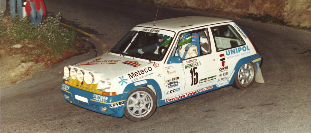 la Renault R5 Gt turbo dell'equipaggio Benazzo - Bocca