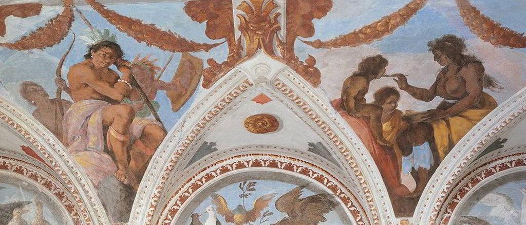 Palazzo Nicolosio Lomellino affresco Bernardo Strozzi