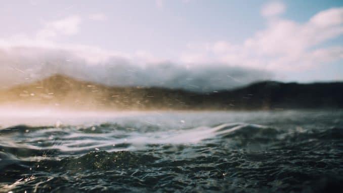 Pioggia nel profilo orizzonte