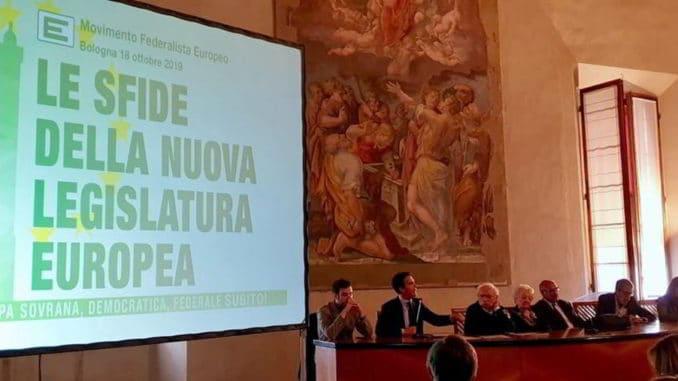 XXIX congresso nazionale Movimento federalista europeo oggi a Bologna