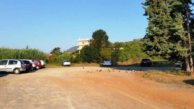 La zona dei nuovi parcheggi a Ceriale