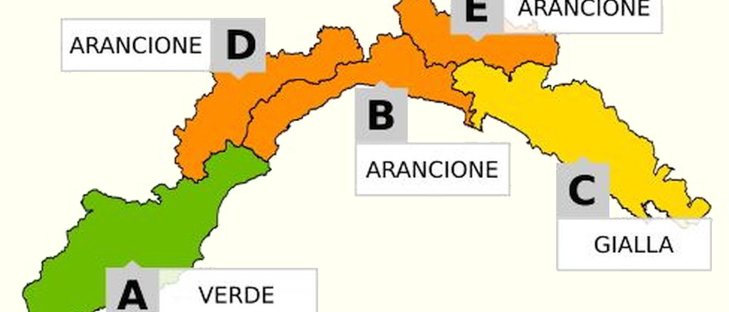 Cartina Politica Liguria Ponente.Maltempo Liguria Prolungato Allerta Meteo