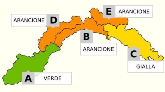 cartina Allerta Meteo Liguria de 21-10-2019