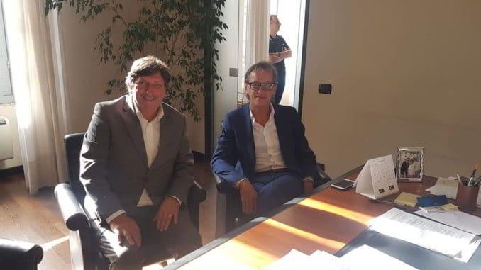incontro edifici scolastici Albenga vicepresidente Provincia SV Bonasera e sindaco Tomatis