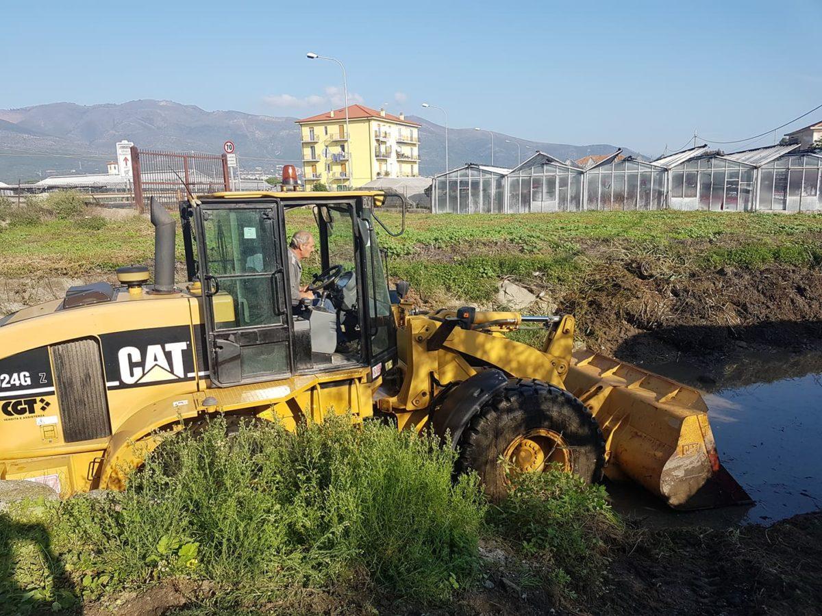 lavori nel greto del rio antognano ad Albenga 02