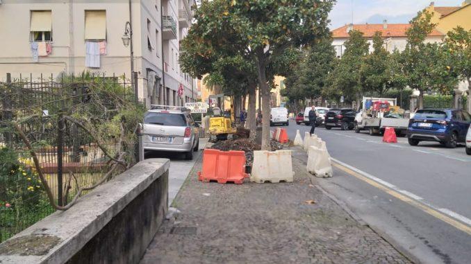 Manutenzioni ad Albenga in via Trieste