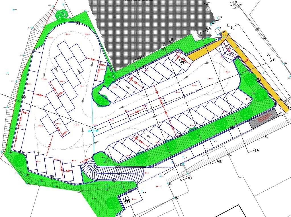 planimetria nuovi parcheggi a Ceriale