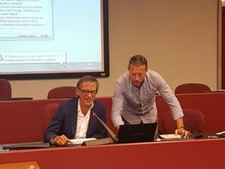 Il sindaco di Albenga Riccardo Tomatis interviene a Palazzo Nervi al convegno su progetto Elena