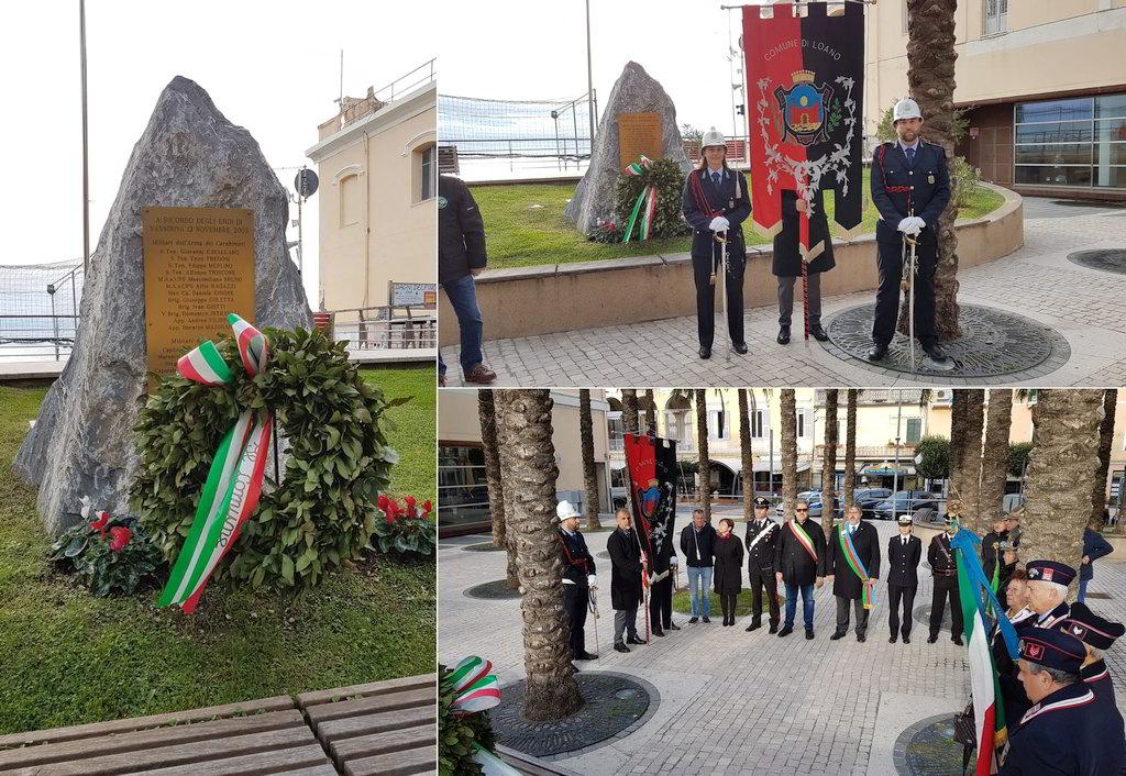 Loano, cerimonia in ricordo Caduti di Nassiriya - AlbengaCorsara News