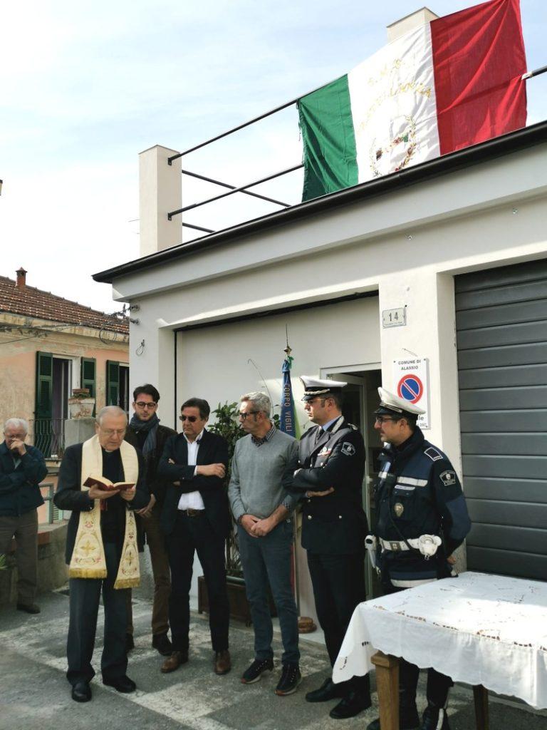 Alassio inaugurazione a Moglio ufficio Polizia locale 02
