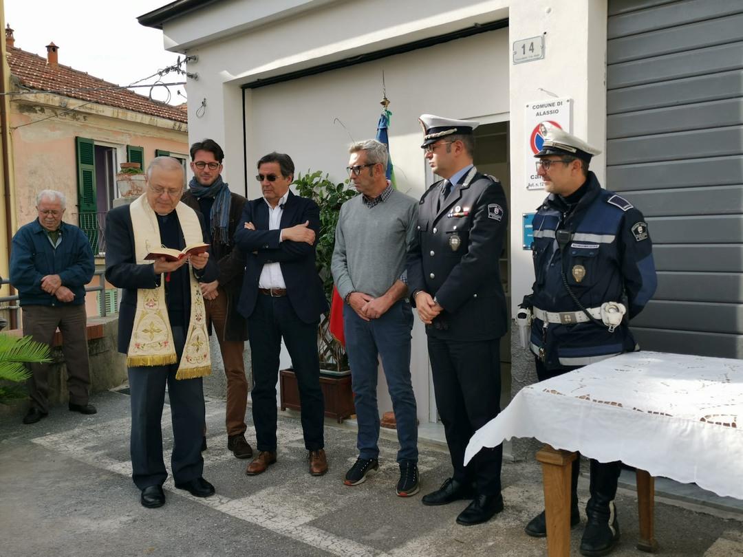 Alassio inaugurazione a Moglio ufficio Polizia locale 03