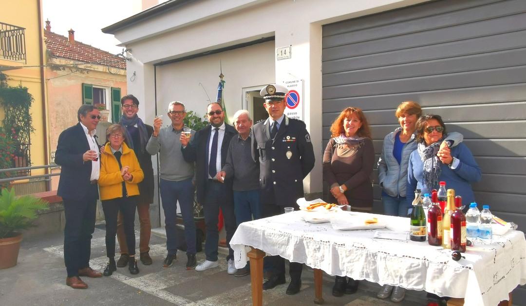 Alassio inaugurazione a Moglio ufficio Polizia locale 07