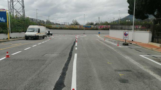 Albenga nuovi parcheggi in via 25 aprile
