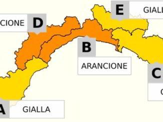 Allerta in Liguria Giallo eArancione in B-D