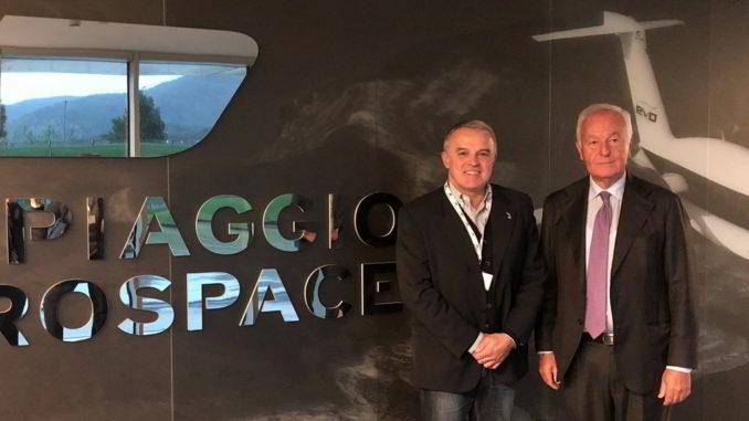 Andrea Benveduti e Vincenzo Nicastro visita a Piaggio aerospace a Villanova d'Albenga